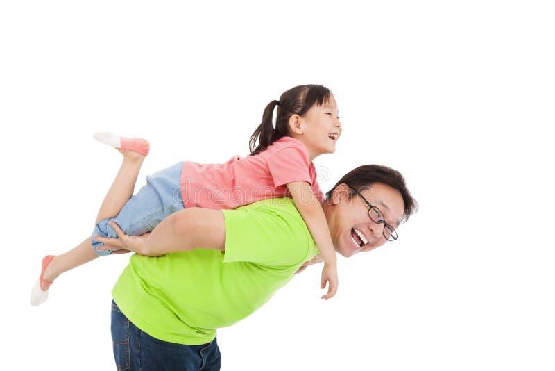 Lycklig fader och dotter royaltyfri foto