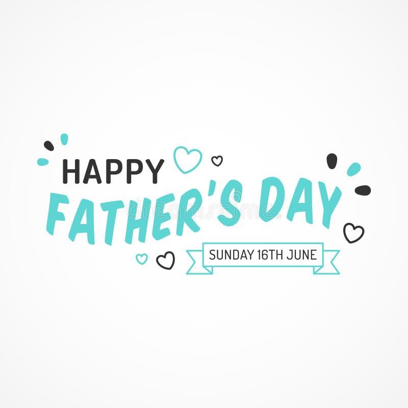 Lycklig faders färgrikt kort för dag 2019 royaltyfri illustrationer