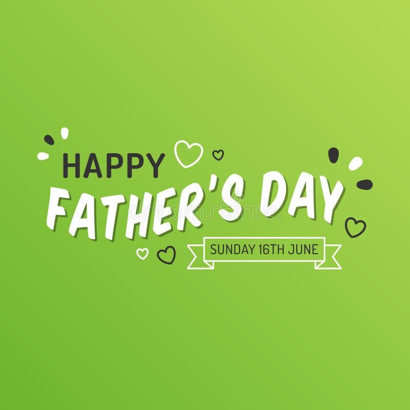 Lycklig faders färgrikt kort för dag 2019 stock illustrationer