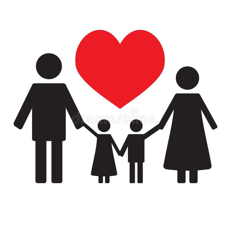 Lycklig familjförälskelse vektor illustrationer