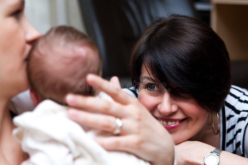 lycklig farmor fotografering för bildbyråer