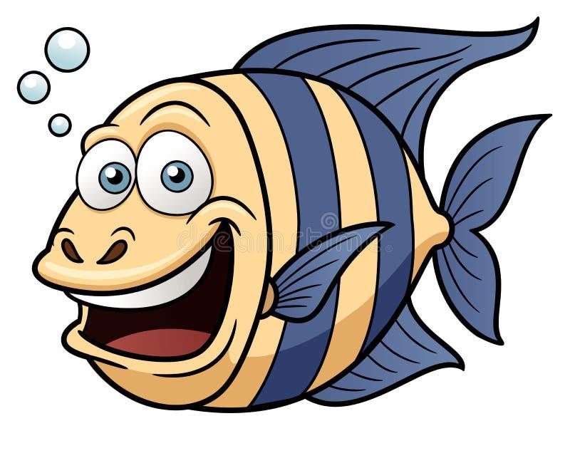 Lycklig fisk för tecknad film vektor illustrationer