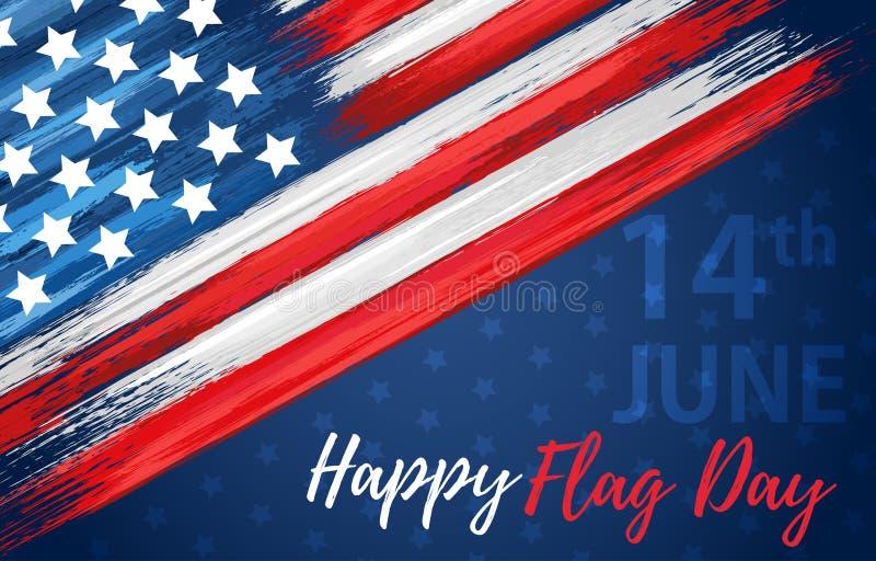 Lycklig flaggmärkesdag 14th Juni stock illustrationer