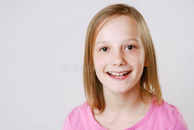 lycklig flicka royaltyfri bild