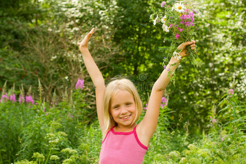 lycklig flicka royaltyfri fotografi