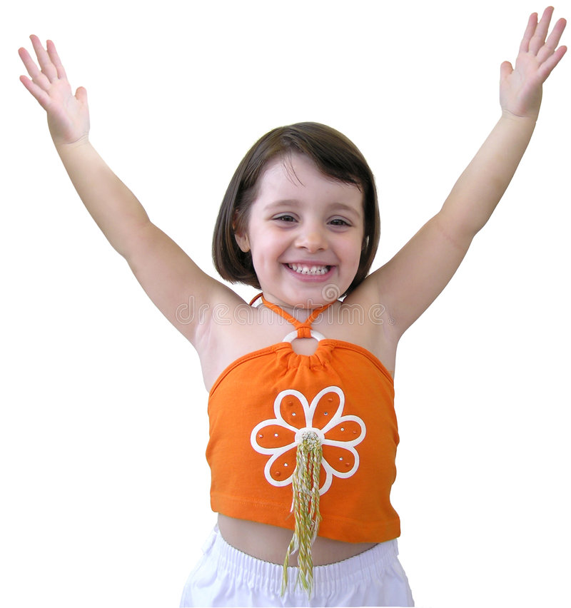 lycklig flicka little