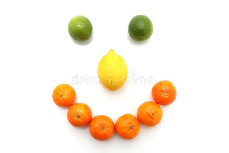lycklig framsidafrukt royaltyfri bild