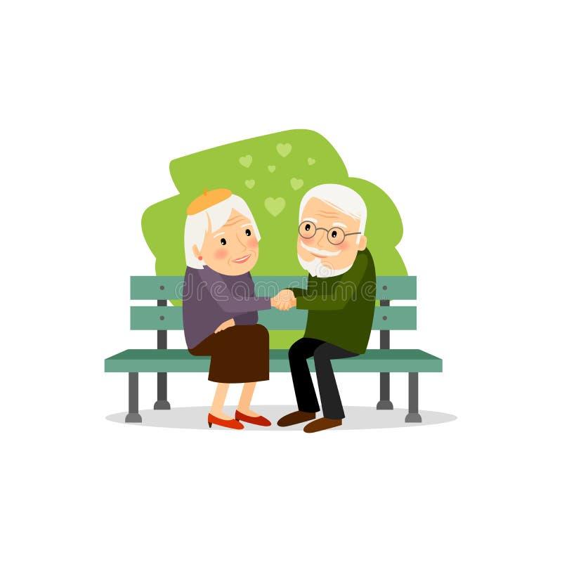 Lycklig fritid för pensionärer vektor illustrationer
