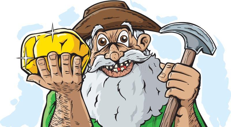 Lycklig gruvarbetare vektor illustrationer
