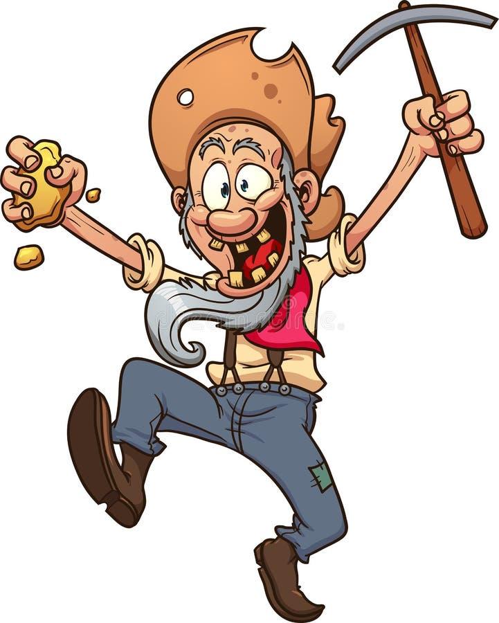 lycklig gruvarbetare stock illustrationer