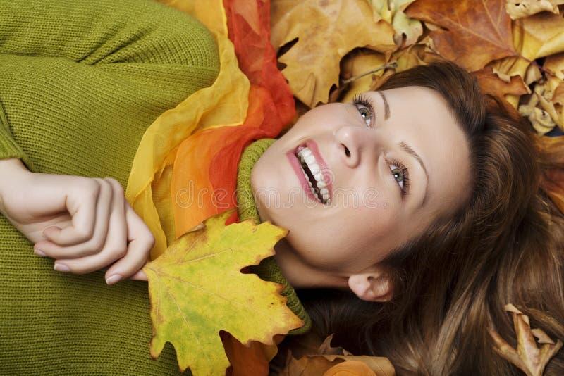 lycklig höst fotografering för bildbyråer
