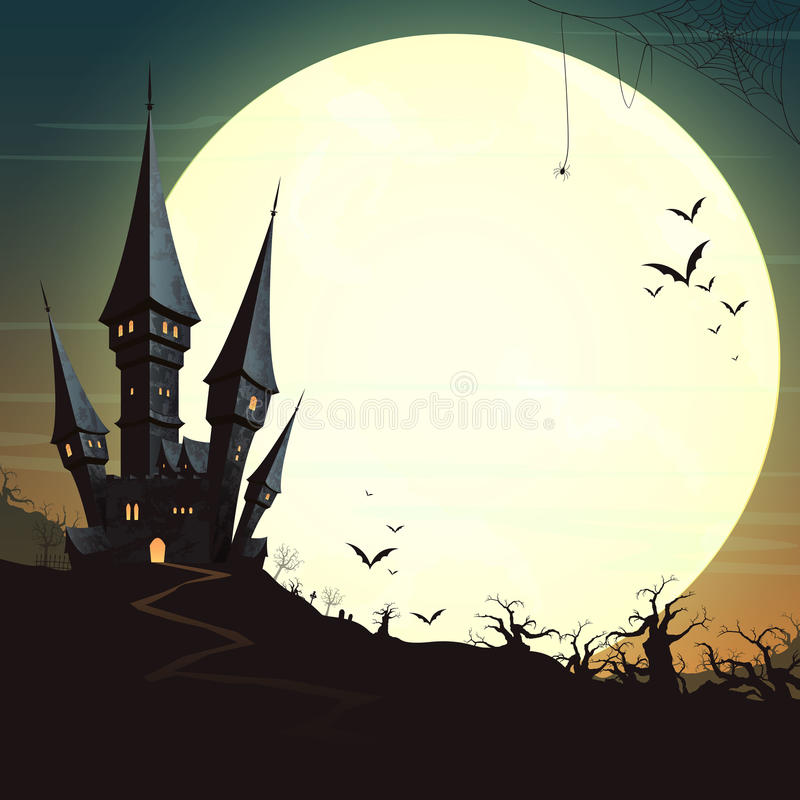 Lycklig halloween design stock illustrationer
