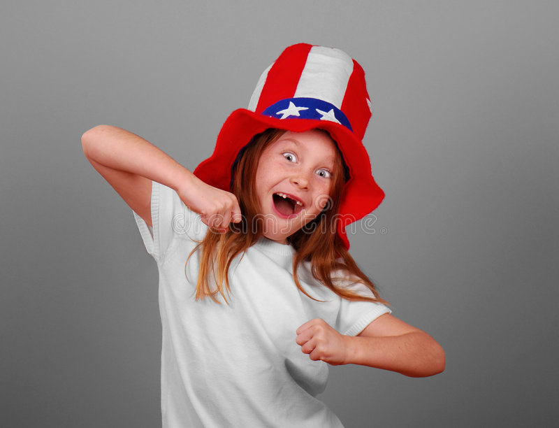 lycklig hatt för flicka royaltyfria bilder