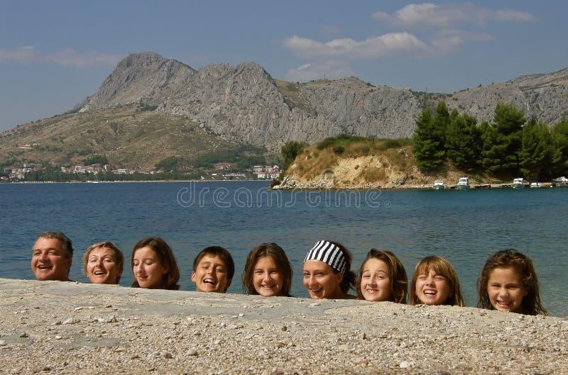 lycklig head human royaltyfri bild
