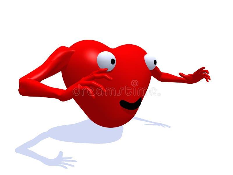 Lycklig hjärta 72 vektor illustrationer