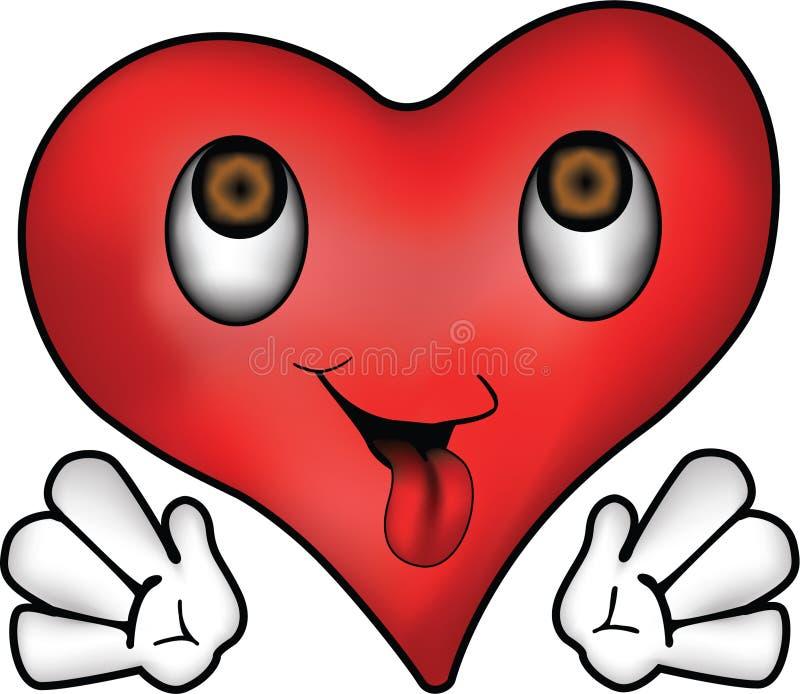 lycklig hjärta vektor illustrationer