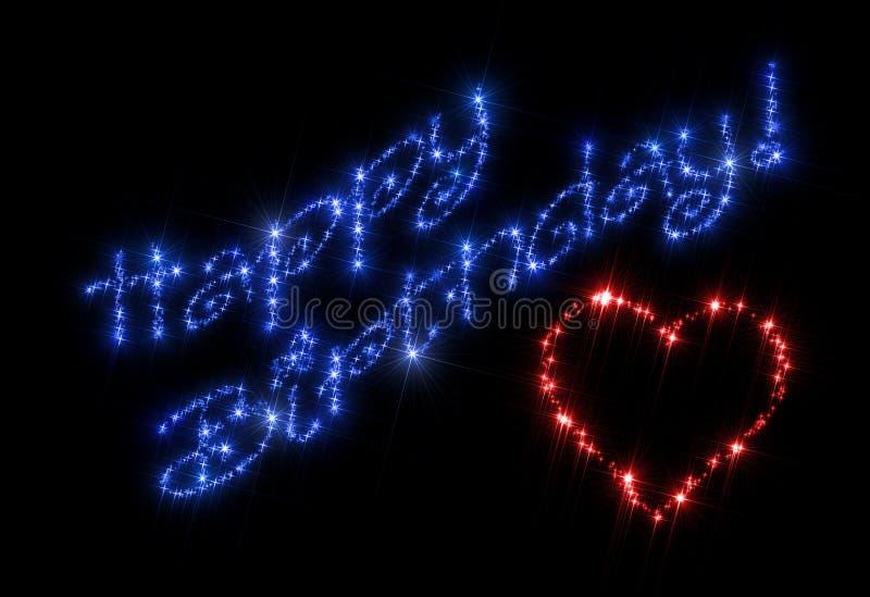 Lycklig hjärta för födelsedag