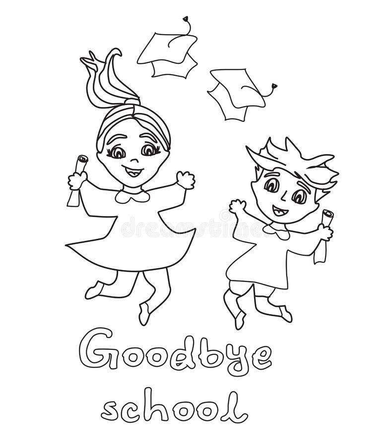 lycklig holding för stor avläggande av examen för billdagdollar stock illustrationer