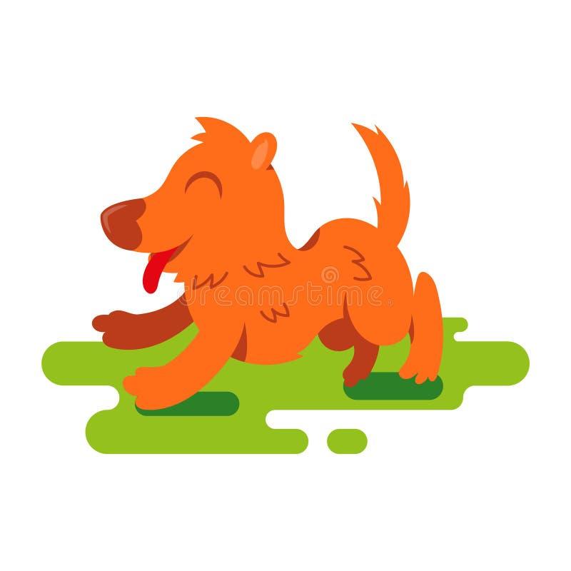 lycklig hund stock illustrationer