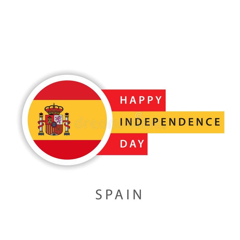 Lycklig illustratör för design för mall för Spanien självständighetsdagenvektor stock illustrationer