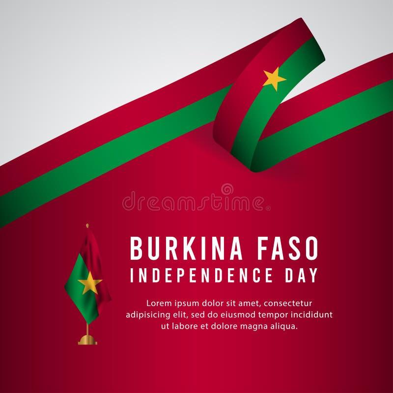 Lycklig illustration för design för mall för vektor för affisch för Burkina Faso självständighetsdagenberöm stock illustrationer