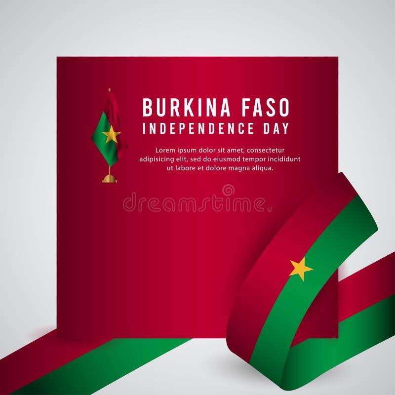 Lycklig illustration för design för mall för vektor för affisch för Burkina Faso självständighetsdagenberöm vektor illustrationer