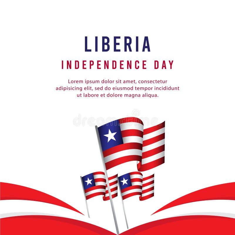 Lycklig illustration för design för mall för vektor för affisch för Liberia självständighetsdagenberöm vektor illustrationer