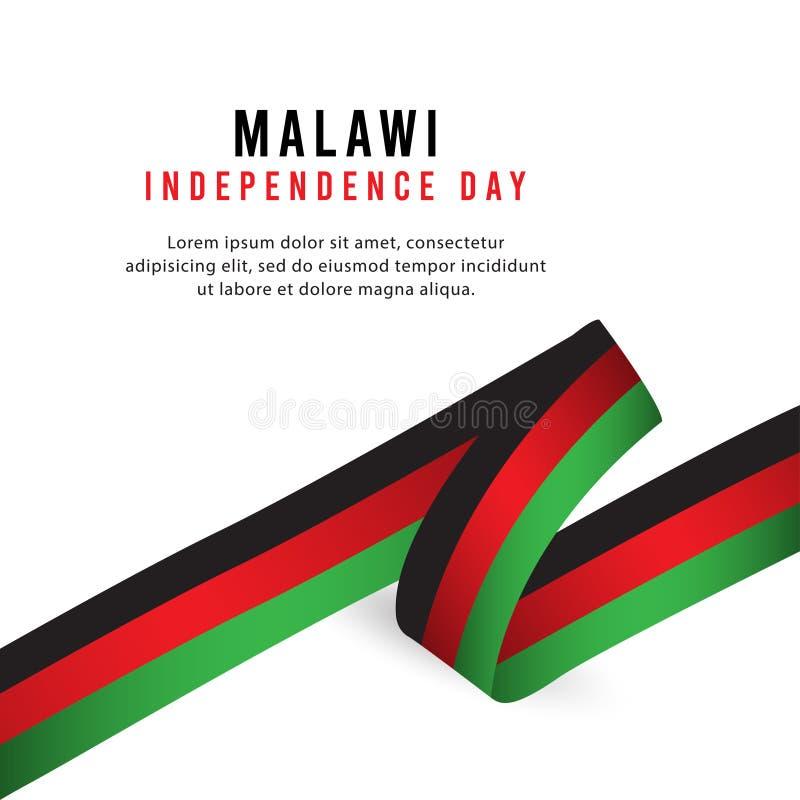 Lycklig illustration för design för mall för vektor för affisch för Malawi självständighetsdagenberöm stock illustrationer