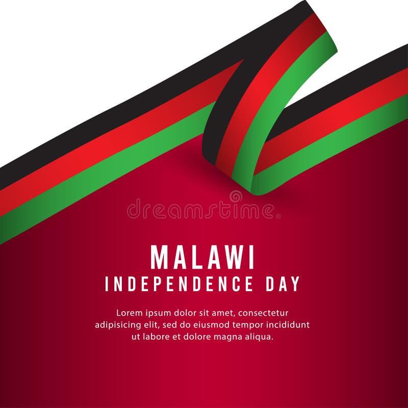 Lycklig illustration för design för mall för vektor för affisch för Malawi självständighetsdagenberöm vektor illustrationer