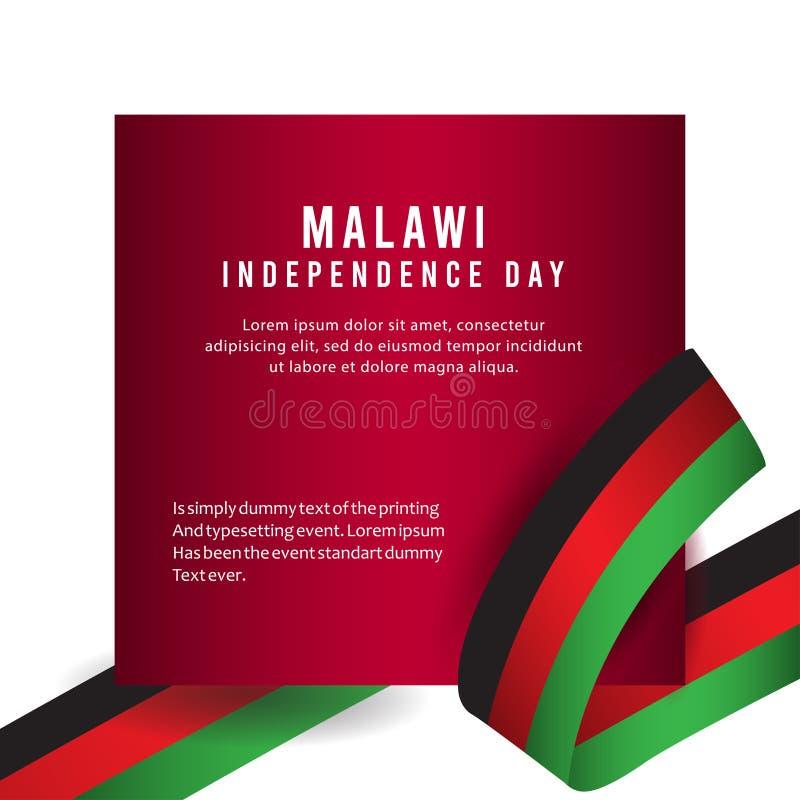 Lycklig illustration för design för mall för vektor för affisch för Malawi självständighetsdagenberöm royaltyfri illustrationer