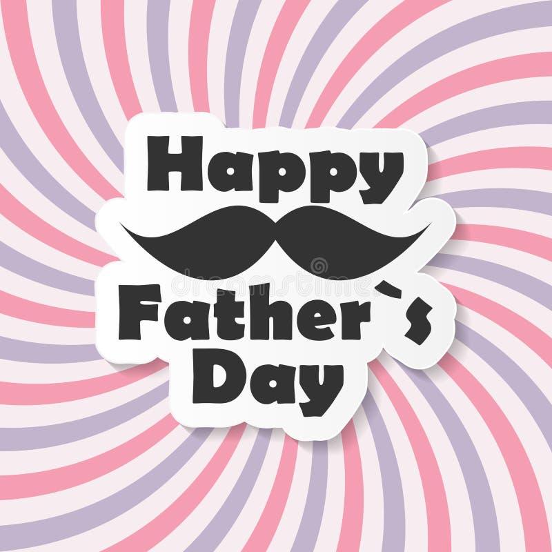 Lycklig illustration för faderDay Poster Card vektor vektor illustrationer