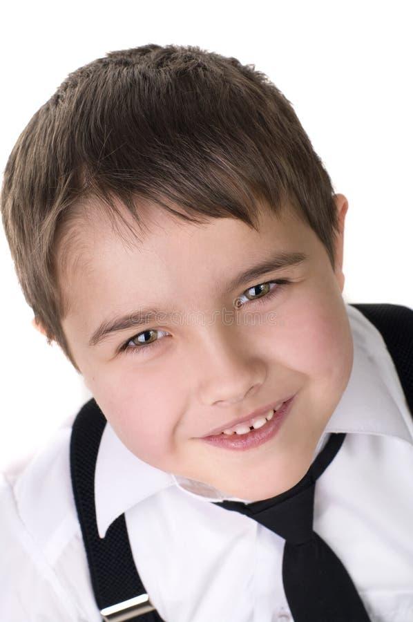 lycklig joyful liten stående för härlig pojke fotografering för bildbyråer