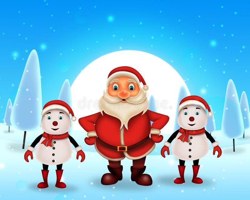 Lycklig jul för glad jul, santa med rendeer royaltyfri fotografi
