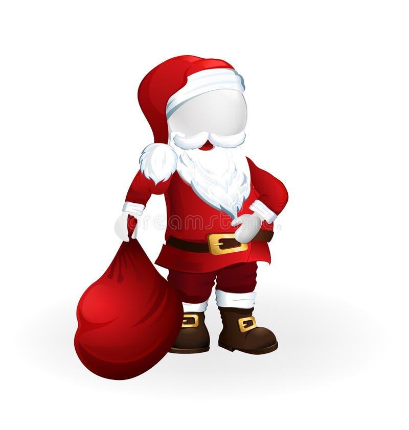 Lycklig jul Santa Claus vektor illustrationer