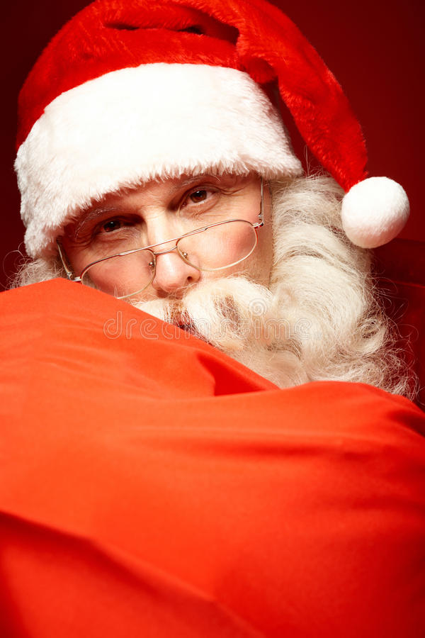 Lycklig jultomten royaltyfri fotografi