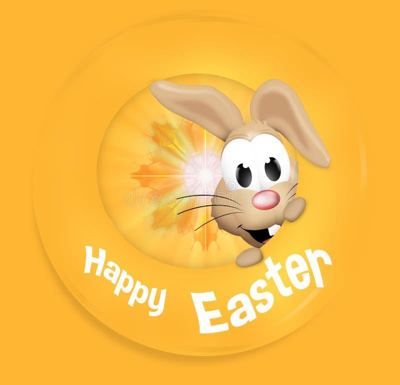 Lycklig känslig kanin för lycklig påsk royaltyfri illustrationer