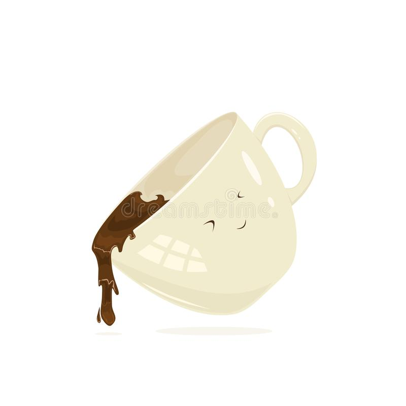 lycklig kaffekopp vektor illustrationer