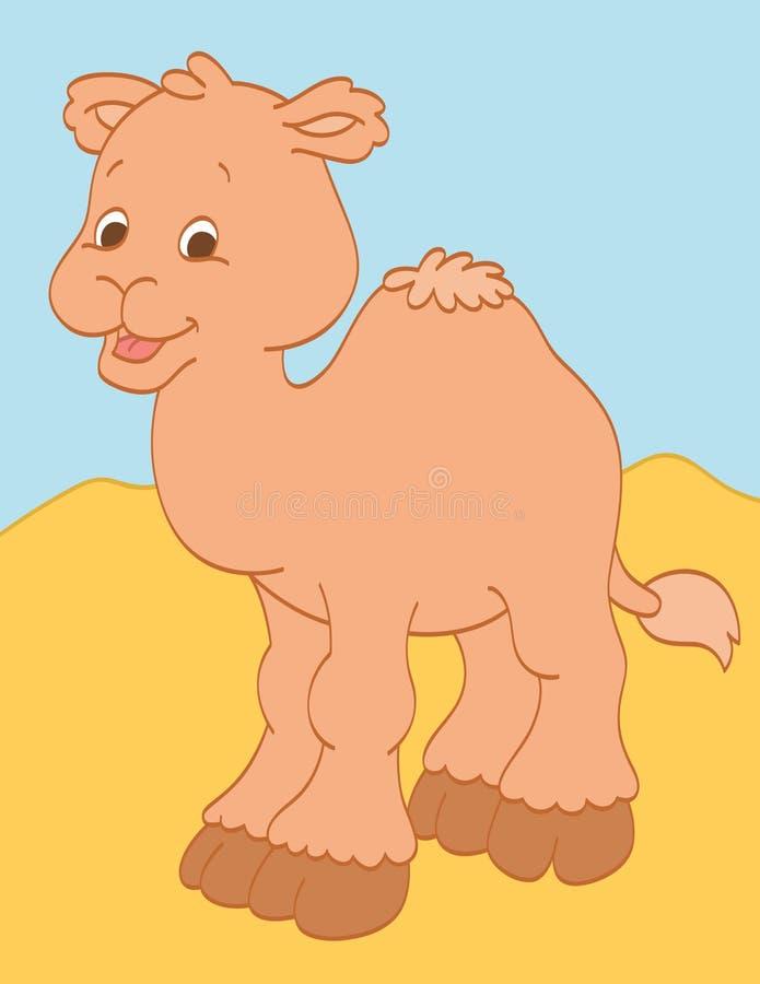 Lycklig kamel stock illustrationer