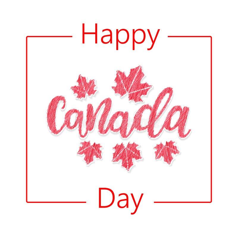 lycklig Kanada dag stock illustrationer
