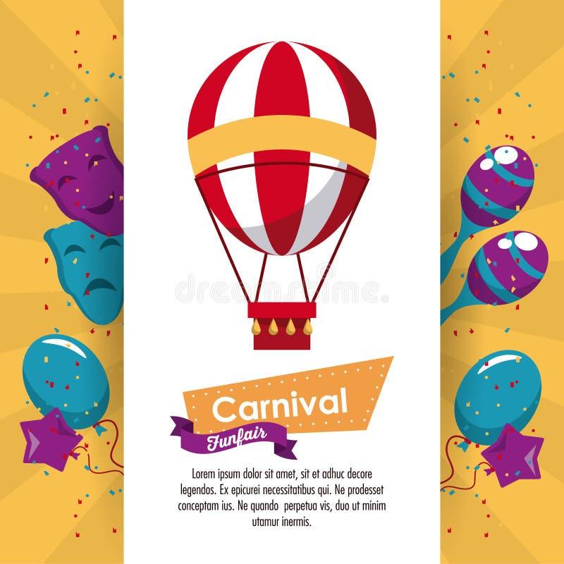 Lycklig karnevaldesign vektor illustrationer