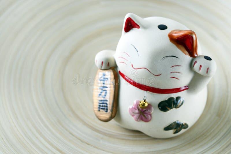 lycklig kattdockajapan arkivbilder
