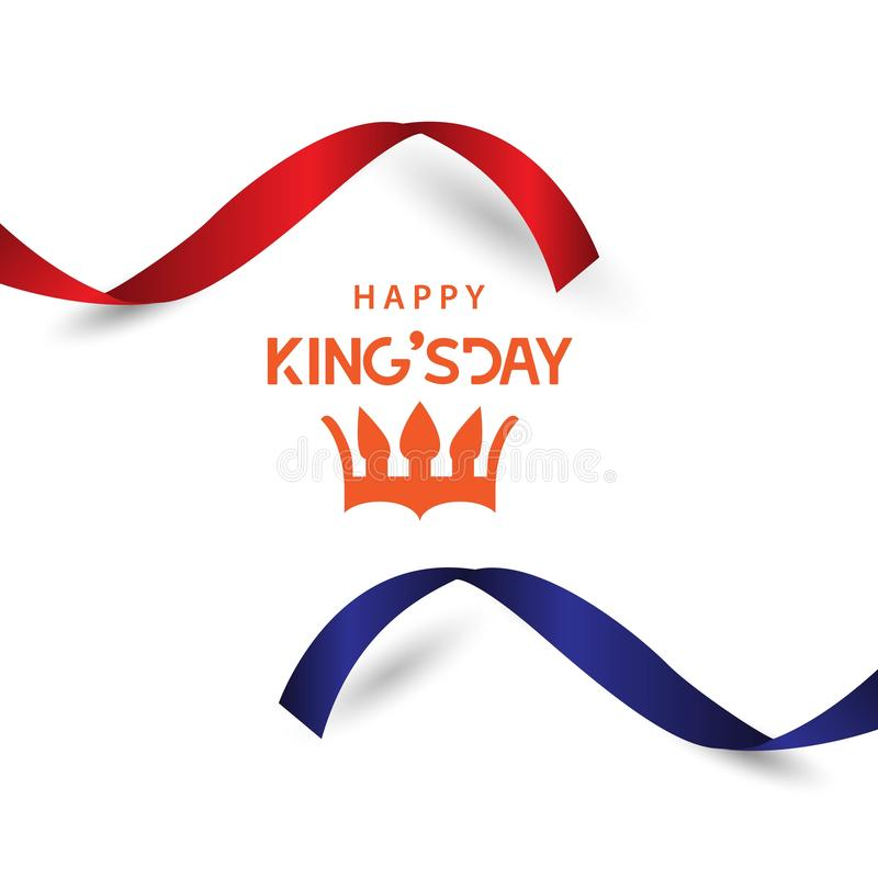 Lycklig King' illustration för design för mall för s-dagvektor vektor illustrationer