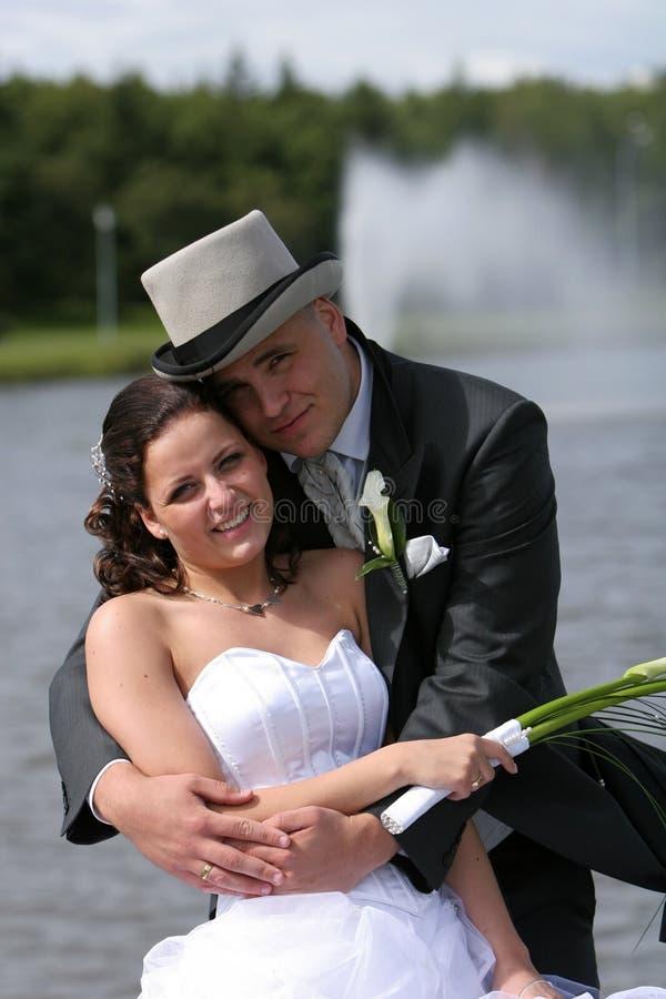 lycklig kram fotografering för bildbyråer
