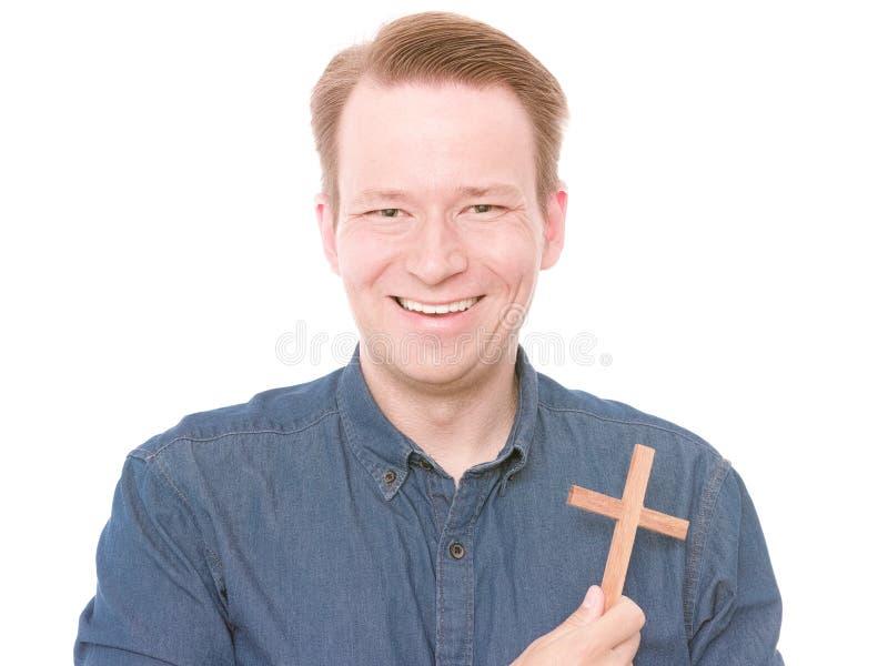 Lycklig kristen royaltyfri fotografi