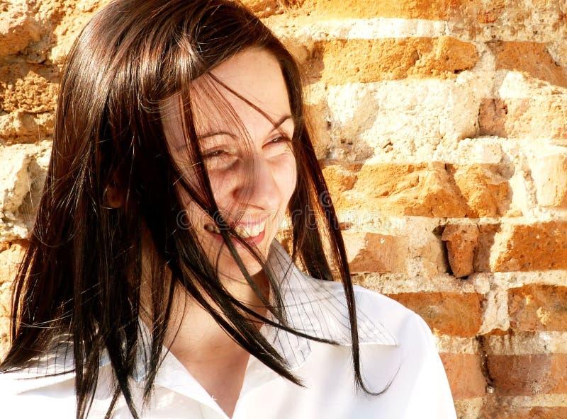 lycklig kvinna royaltyfri foto