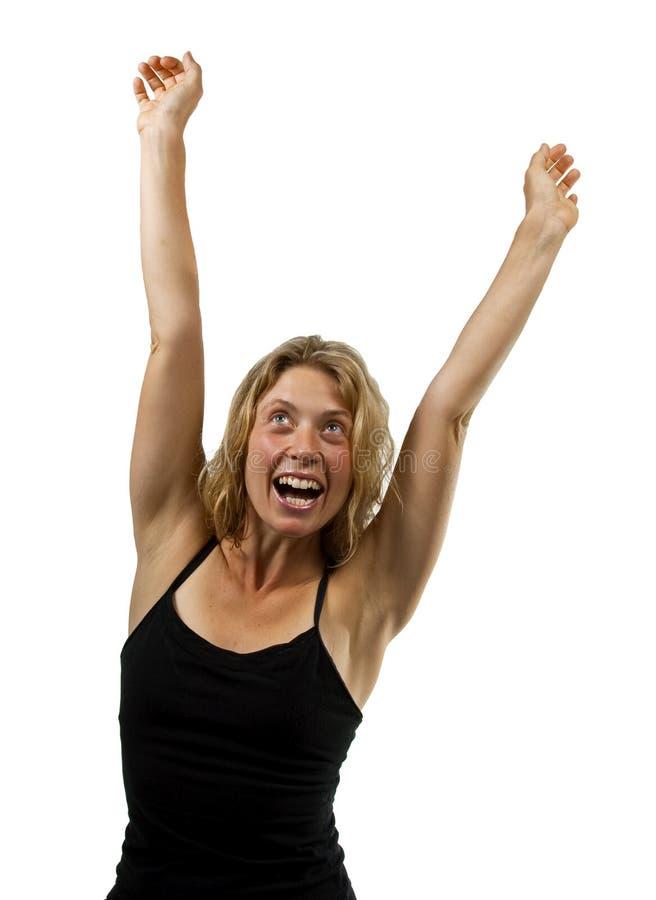 Lycklig kvinna fotografering för bildbyråer