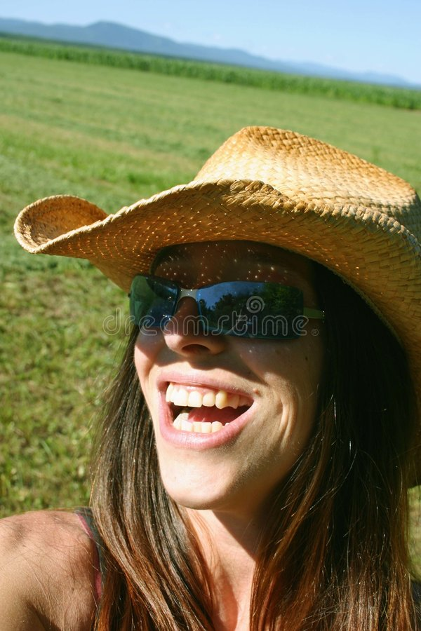 lycklig kvinna royaltyfri bild