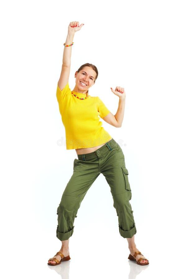 lycklig kvinna royaltyfria bilder