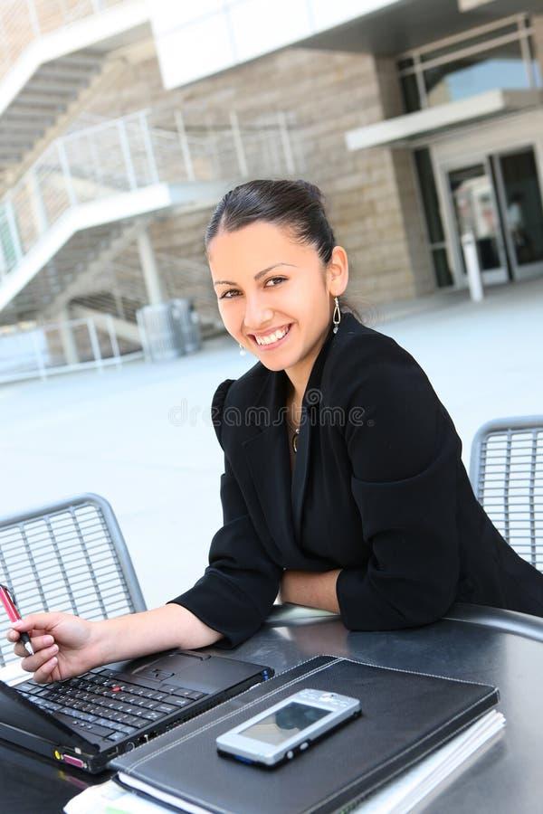 lycklig kvinna för affärsföretag royaltyfri fotografi