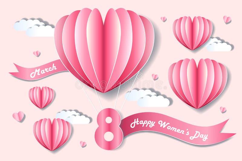 Lycklig kvinnadag för tecknad film vektor illustrationer
